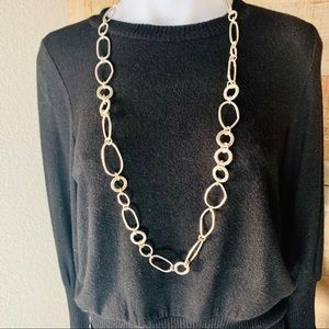 Brighton Long link Necklace silver plated